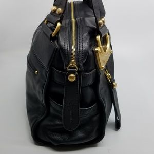 4e74cadba900 b. makowsky Bags | B Makowsky Eastwest Black Leather Satchel | Poshmark